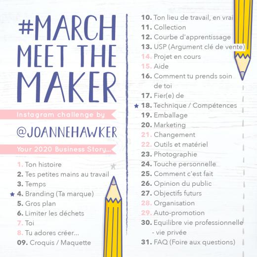 Liste des thèmes pour March Meet the Maker 2020
